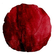 Red Background Texture Large 18  Premium Round Cushions