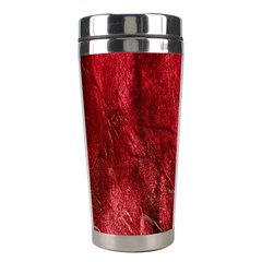 Red Background Texture Stainless Steel Travel Tumblers