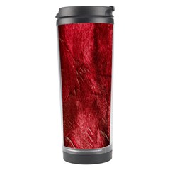 Red Background Texture Travel Tumbler