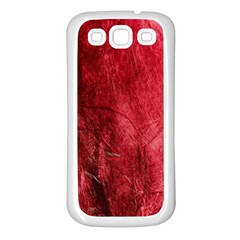 Red Background Texture Samsung Galaxy S3 Back Case (white)