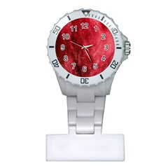 Red Background Texture Plastic Nurses Watch