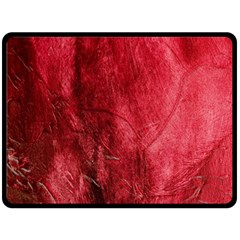 Red Background Texture Double Sided Fleece Blanket (Large)