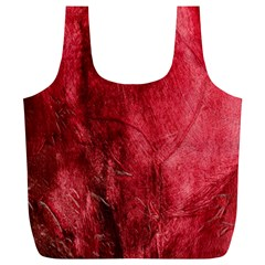 Red Background Texture Full Print Recycle Bags (L)