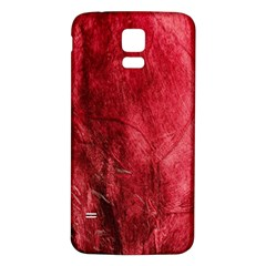 Red Background Texture Samsung Galaxy S5 Back Case (white)