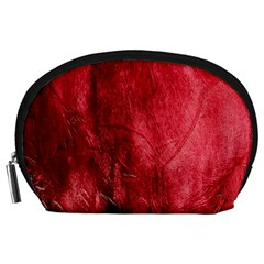 Red Background Texture Accessory Pouches (Large)
