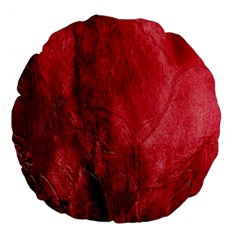 Red Background Texture Large 18  Premium Flano Round Cushions