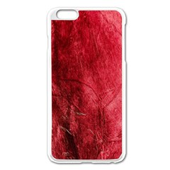 Red Background Texture Apple iPhone 6 Plus/6S Plus Enamel White Case