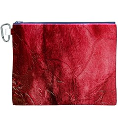 Red Background Texture Canvas Cosmetic Bag (XXXL)
