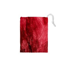 Red Background Texture Drawstring Pouches (XS)