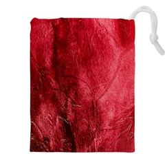 Red Background Texture Drawstring Pouches (XXL)