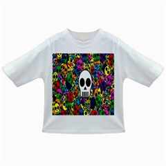 Skull Background Bright Multi Colored Infant/Toddler T-Shirts