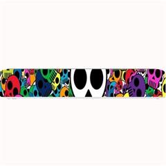 Skull Background Bright Multi Colored Small Bar Mats