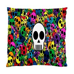 Skull Background Bright Multi Colored Standard Cushion Case (One Side)