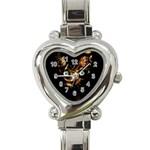 Sphynx cat Heart Italian Charm Watch Front