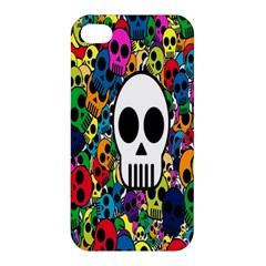 Skull Background Bright Multi Colored Apple iPhone 4/4S Hardshell Case