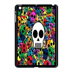 Skull Background Bright Multi Colored Apple iPad Mini Case (Black)