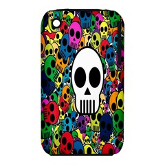 Skull Background Bright Multi Colored iPhone 3S/3GS