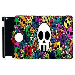 Skull Background Bright Multi Colored Apple iPad 3/4 Flip 360 Case
