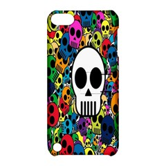 Skull Background Bright Multi Colored Apple iPod Touch 5 Hardshell Case with Stand