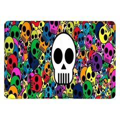 Skull Background Bright Multi Colored Samsung Galaxy Tab 8 9  P7300 Flip Case