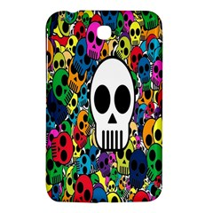 Skull Background Bright Multi Colored Samsung Galaxy Tab 3 (7 ) P3200 Hardshell Case