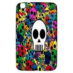 Skull Background Bright Multi Colored Samsung Galaxy Tab 3 (8 ) T3100 Hardshell Case