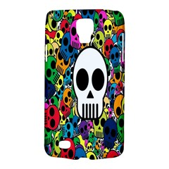 Skull Background Bright Multi Colored Galaxy S4 Active
