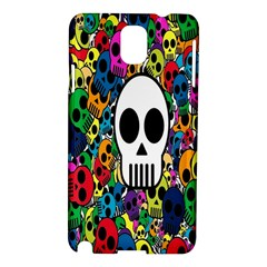 Skull Background Bright Multi Colored Samsung Galaxy Note 3 N9005 Hardshell Case
