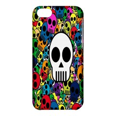 Skull Background Bright Multi Colored Apple iPhone 5C Hardshell Case