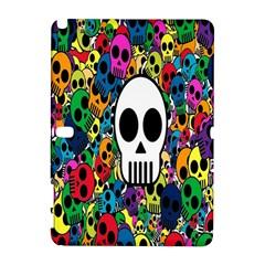 Skull Background Bright Multi Colored Galaxy Note 1