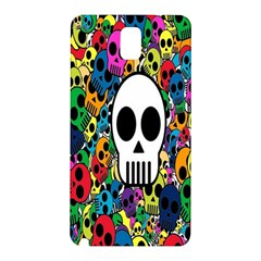 Skull Background Bright Multi Colored Samsung Galaxy Note 3 N9005 Hardshell Back Case