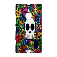 Skull Background Bright Multi Colored Nokia Lumia 1520