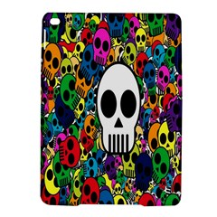 Skull Background Bright Multi Colored Ipad Air 2 Hardshell Cases