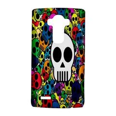 Skull Background Bright Multi Colored LG G4 Hardshell Case
