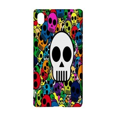 Skull Background Bright Multi Colored Sony Xperia Z3+