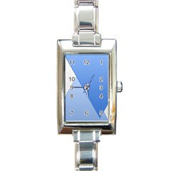 Stripes Lines Texture Rectangle Italian Charm Watch