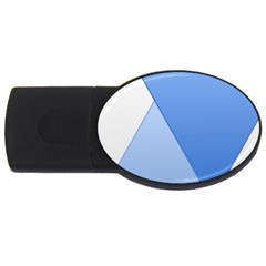 Stripes Lines Texture Usb Flash Drive Oval (4 Gb)