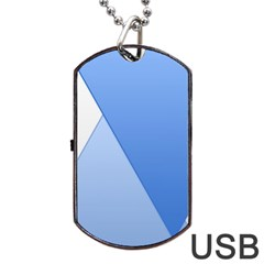Stripes Lines Texture Dog Tag USB Flash (Two Sides)