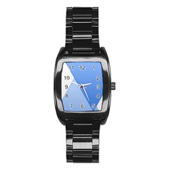 Stripes Lines Texture Stainless Steel Barrel Watch