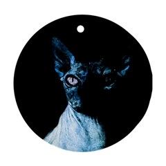 Blue Sphynx cat Ornament (Round)