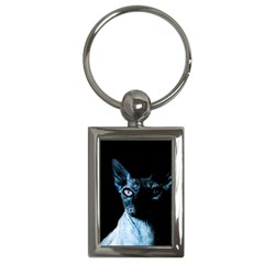 Blue Sphynx cat Key Chains (Rectangle)