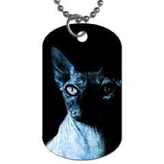 Blue Sphynx cat Dog Tag (Two Sides)