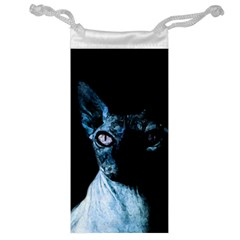 Blue Sphynx cat Jewelry Bag