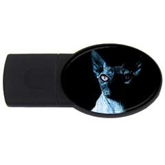 Blue Sphynx cat USB Flash Drive Oval (4 GB)