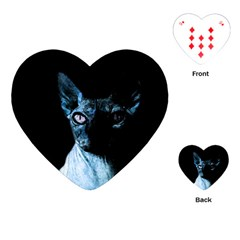 Blue Sphynx cat Playing Cards (Heart)