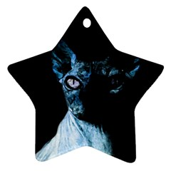Blue Sphynx cat Star Ornament (Two Sides)