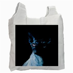 Blue Sphynx cat Recycle Bag (Two Side)