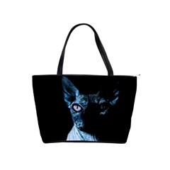 Blue Sphynx cat Shoulder Handbags