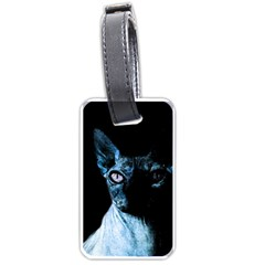 Blue Sphynx cat Luggage Tags (One Side)