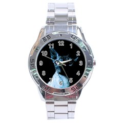 Blue Sphynx cat Stainless Steel Analogue Watch